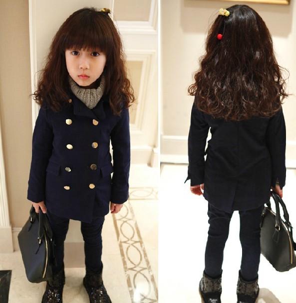 2013冬服新作厚手韓国子供服 キッズ 女の子 暖か コート